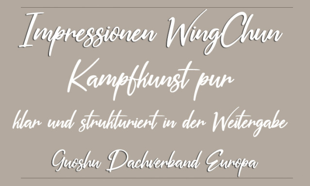 Sifu Christof Hampel WingChun Dachverband Leitung